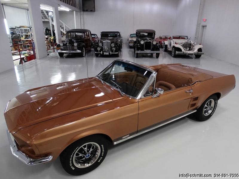 1967 FORD MUSTANG GTA CONVERTIBLE Car Trading Card FPI Burnt Amber