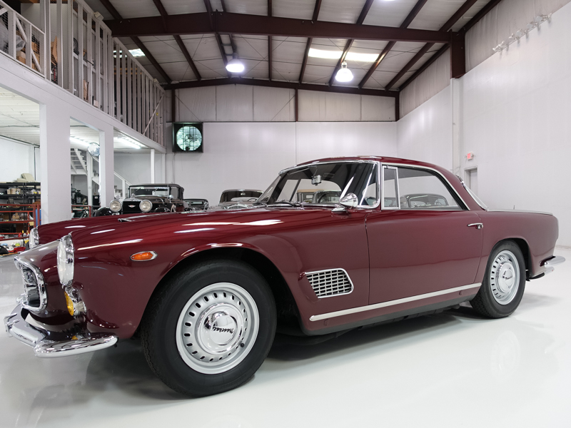 1960 Maserati 3500 GT Coupe by Touring for sale at Daniel Schmitt & Co. Classic cat gallery st. louis, classic maserati for sale