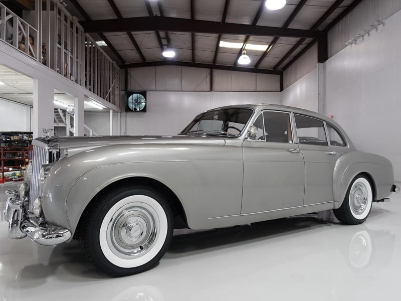 1959 Bentley S1 Continental Flying Spur Sports Saloon by H.J. Mulliner for sale by Daniel Schmitt & Co. Classic Car gallery St. Louis, classic bentley S1 for sale