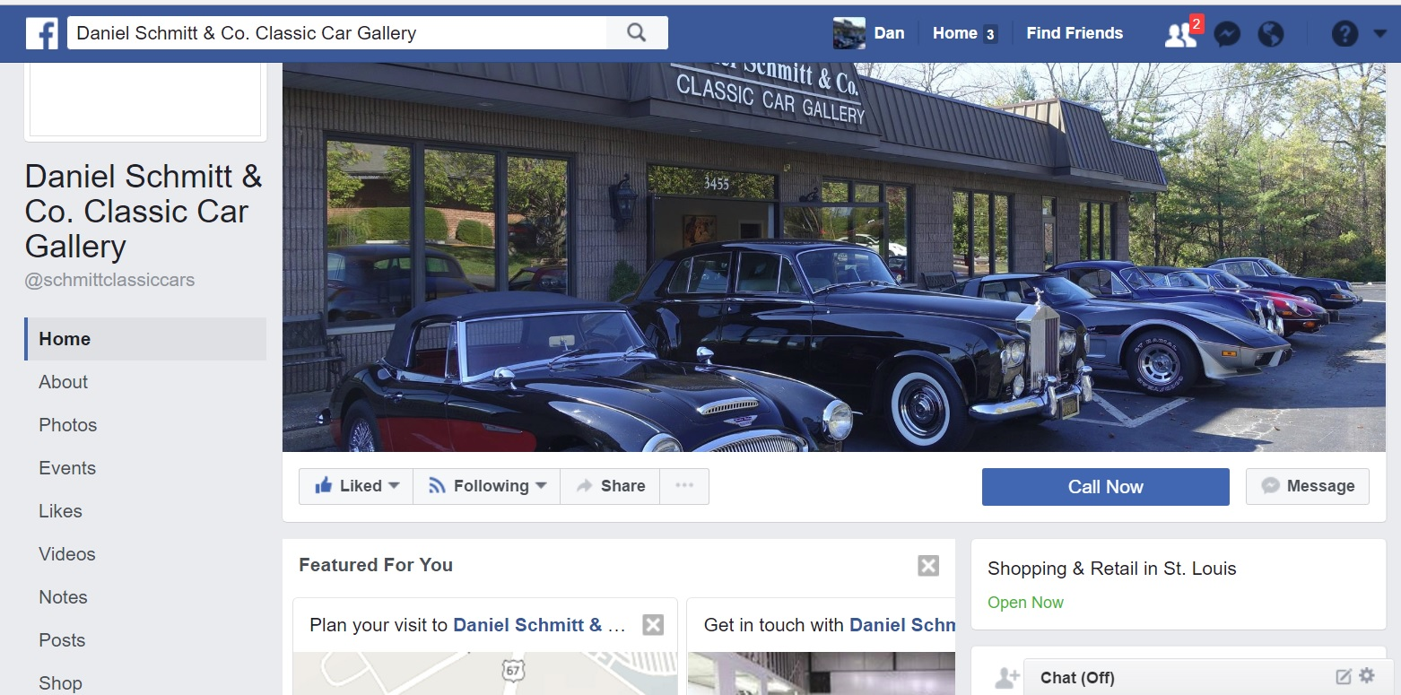 Daniel Schmitt & Co. Classic Car Gallery St. Louis Facebook Page