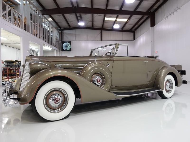 1937 Packard Twelve Coupe Roadster for sale at Daniel Schmitt & Co. Classic cars, daniel schmitt st. louis