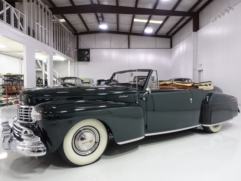 1948 Lincoln Continental Convertible for sale at Daniel Schmitt & Co. Classic car gallery, classic lincoln continental for sale