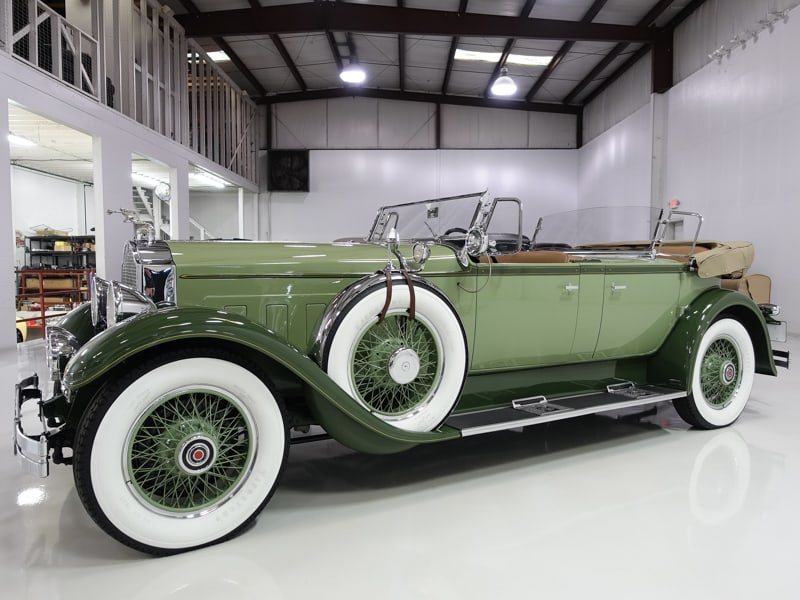 1929 Packard Deluxe Eight Dual Cowl Sport Phaeton for sale by Daniel Schmitt & Co. classic packard eight deluxe for sale