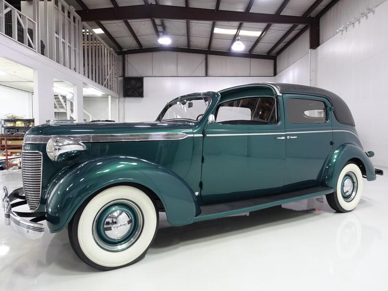 1937 Chrysler Royal Six Town Sedan by Derham for sale at daniel schmitt & Co., classic chrysler for sale, daniel schmitt st. louis