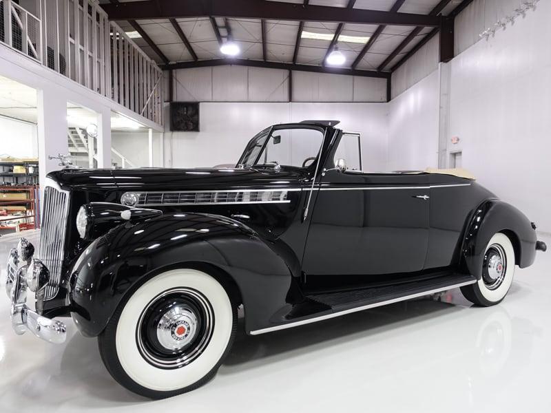 1940 Packard 110 Convertible for sale at daniel schmitt & co. classic cars, classic packard for sale, packard 110 for sale