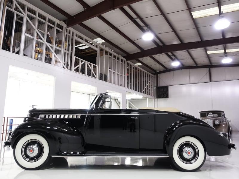 1940 Packard Model 1800 Convertible | 245ci flathead engine: 1940 Packard 110 Convertible | Power convertible top | Tri-plane grille guard