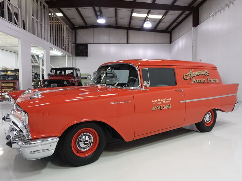 1957 Chevrolet 150 Sedan Delivery for sale at daniel schmitt & Co. classic car gallery, chevy 150 sedan for sale
