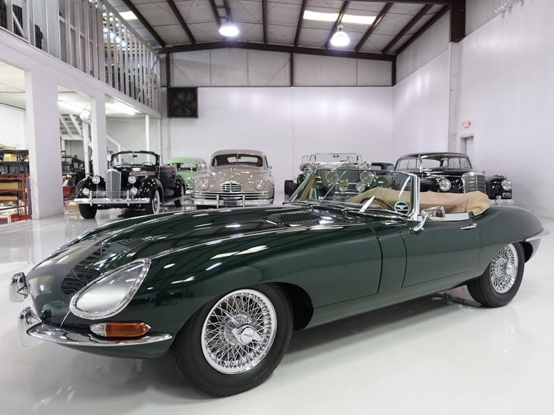 1962 Jaguar E-Type Series I 3.8 Roadster for sale at Daniel Schmitt & Co. classic car gallery st. louis, classic jaguar for sale, daniel schmitt cars