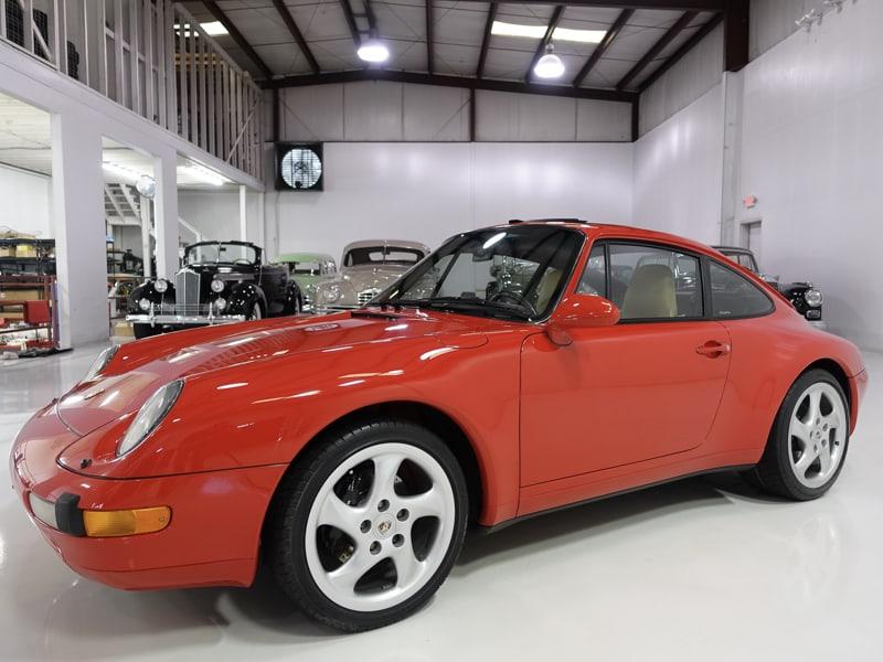 1995 Porsche 993 Carrera for sale at daneil schmitt & Co. classic car gallery, classic porsche for sale, porsche 993 for sale, red porsche 993, classic air cooled porsche sale