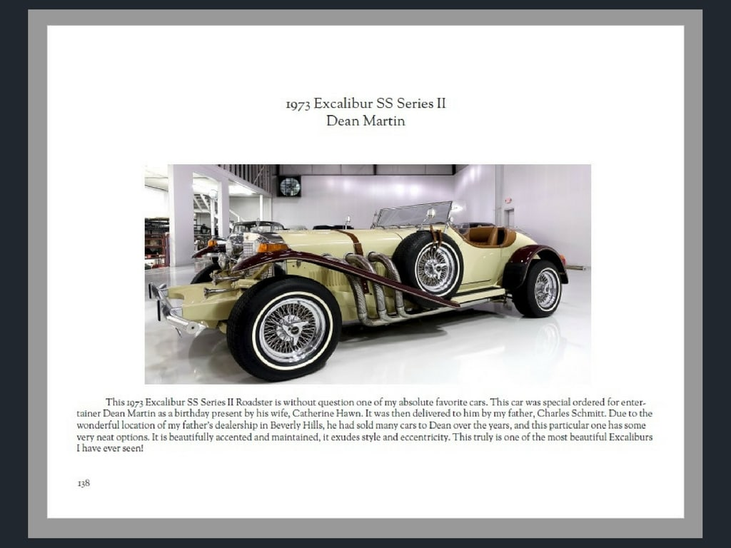 Cars of Stars, premium collector cars for sale, daniel schmitt & Co., dean martin excalibur