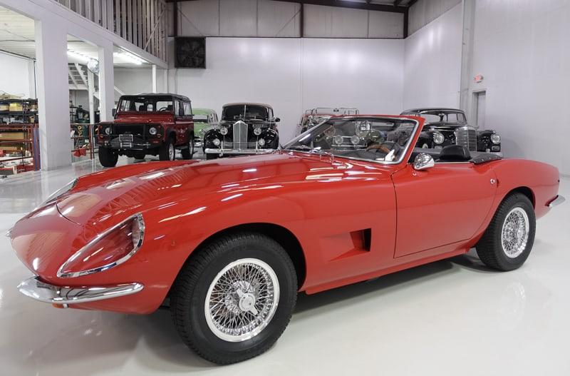 1969 Intermeccanica Italia Spyder for sale at Daniel Schmitt & co. Classic car galler St. Louis, intermeccanica italia for sale, intermeccanica italia convertible