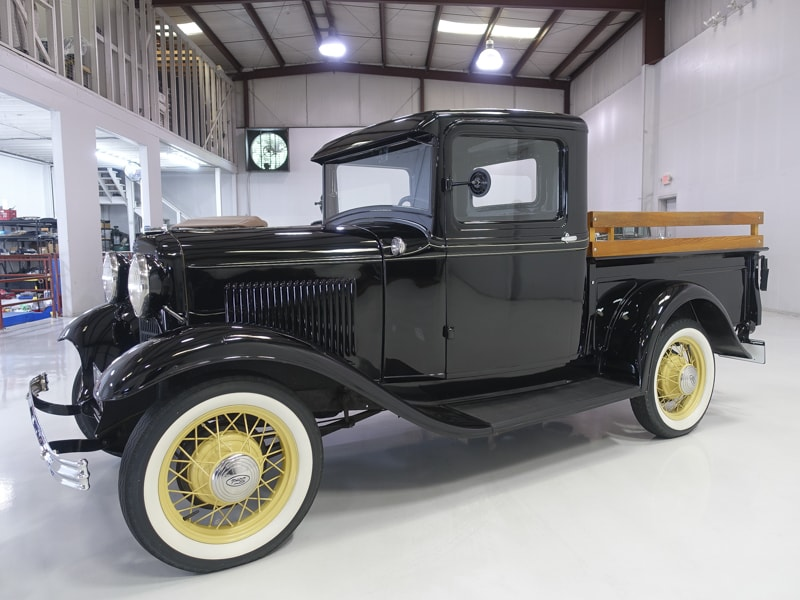 Restored 1932 Ford Model B Pickup   Added safety features