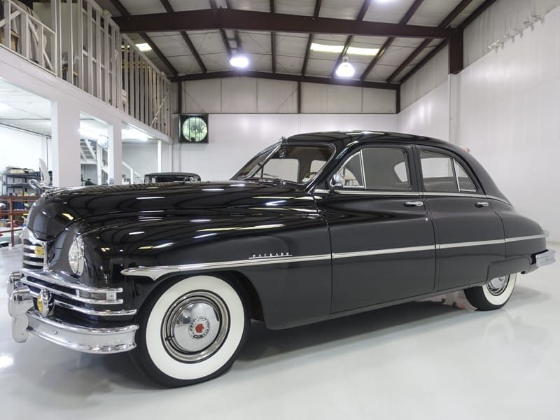 AACA award winning 1950 Packard Deluxe Eight Touring Sedan for sale at Daniel Schmitt & Co. in Saint Louis, Missouri