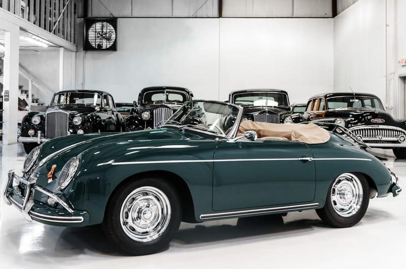 1959 Porsche 356A Convertible D in Fjord Green for sale by Daniel Schmitt & Co