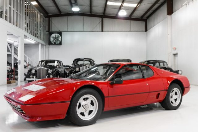 The magnificent 1984 Ferrari 512 BBi featured here is finished in stunning Deep Red over black leather interior and has been fitted with every available option, including factory air conditioning, leather interior, power windows, and more. Purchased new, it was delivered to Southern California to world-renowned Pebble Beach-winning Bill De Carr. #ferrari #classiccarsdaily #512 #BBi