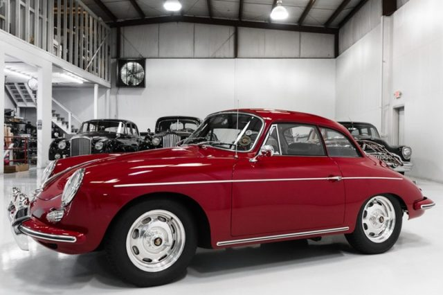 The magnificent 356B notchback coupe featured here is finished in highly desirable ruby red over black leather interior, fitted with many options including luggage rack and reproduction Rudge knockoff wheels.  #porschelove #wassergekühlt #transaxleporsche #vintageporsche #porschelife #glückstadt #porscheworld #porschewoman #porschewomen #928gt
