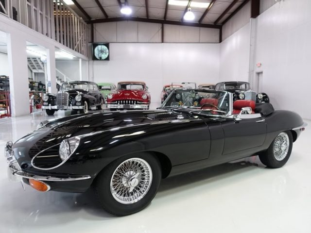 The magnificent Jaguar E type series II roadster featured here is finished in stunning black over red leather interior and black folding convertible top. This incredible motorcar has been beautifully restored with no expense spared by Marquise specialists at Werke Classic Center LLC. - - - - #cars #car #audi #mercedes #porsche #carlifestyle #mercedesbenz #automotive #r #supercars #instacar #carswithoutlimits #supercar