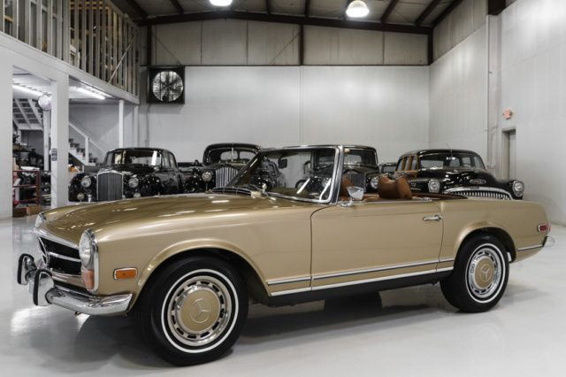 The magnificent 1971 Mercedes-Benz 280 SL California Coupe Roadster featured here is finished in gorgeous Satin Beige Metallic over Cognac leather interior. This incredible motorcar was sold new in Van Nuys, California and remained in California all this time with only three meticulous owners.  - - - - #mercedes #280 #sl #cognac #california #roadster #classiccars #mercedesbenz #gold #pagoda
