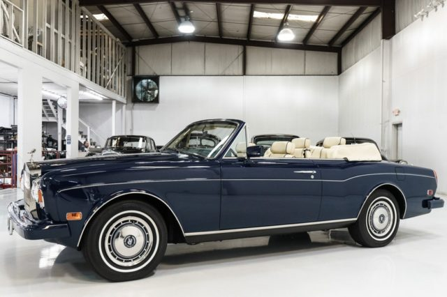 The magnificent 1993 Rolls-Royce Corniche IV Anniversary Convertible featured here is finished in Special Anniversary Ming Blue over Magnolia leather interior with matching convertible top.  - - - - #rolls #rollsroyce #classiccarsdaily #autolist #carswithoutlimits #luxury #corniche #limited #rarecars #classiccars