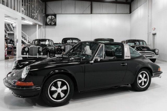 The magnificent 1972 Porsche 911T 2.4 Targa featured here is finished in stunning all-black over black and White Houndstooth interior and black removable Targa top. This incredible motorcar was beautifully restored and is now ready to drive and enjoy. - - -  -  #porsche #classiccars #classiccarsdaily #targa #911T #RWD #classicporsche #70s #blackonblack